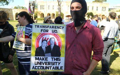 Protesting against The University of Queensland's Confucius Institute