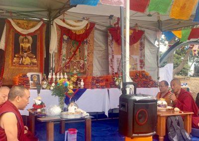 Tibetan prayer ceremoney